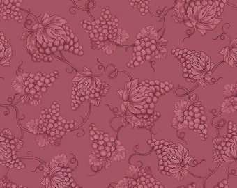 Vineyard Haven Grape Toile Fabric Rose From Quilting Treasures