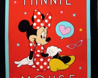 Disney fabric- Minnie Mouse Fabric Panel From Springs Creative