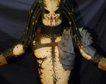 Alien Creature Mask- Paint Up P1 Style with dreads and rings