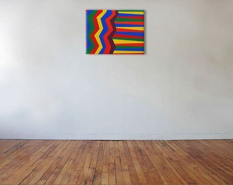 Zig Lines - Acrylic on canvas - 40cm x 30cm