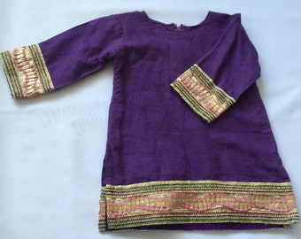 Girls' adorable purple dress
