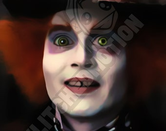 Mad Hatter Digital Painting Print