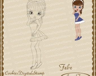Febe Digital Stamp