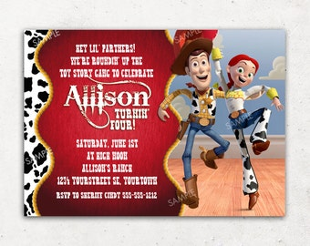 Toy Story Invitation for Birthday Party / Jessie and Woody Invitation / DIY Printable Digital File