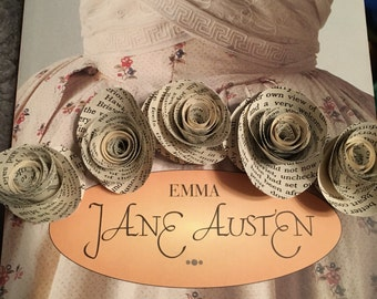 Emma Book Page Flowers