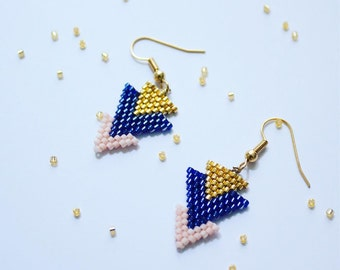 "Earrings ""triangles"" - Earrings ""triangles - miyuki"""