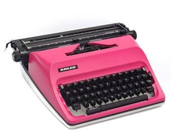Pink Adler typewriter