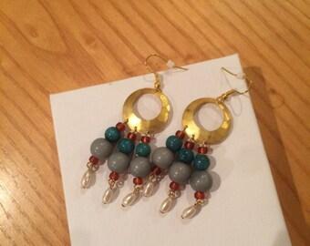 Handmade Dangle Multi-Color Earrings