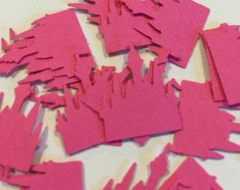 Hot pink castle confetti