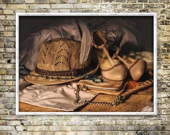 Vintage memories print, artwork, color photography, retro, instant download
