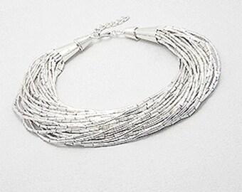 Silver multistrand bracelet