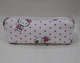 Pencil Case, Pen Case, Pencil Holder, Pen Holder, Pencil Pouch, Pen Pouch, Zipper Bag, Back to school in Hello Kitty