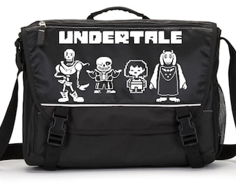 Sans Papyrus Toriel and Frisk Undertale Parody Laptop Messenger Bag * Add a name for FREE * School * Computer Bag * Choice of Colors *