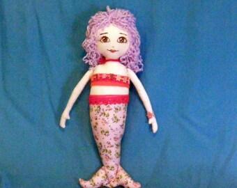 Caribbean Mermaid  Rag Doll