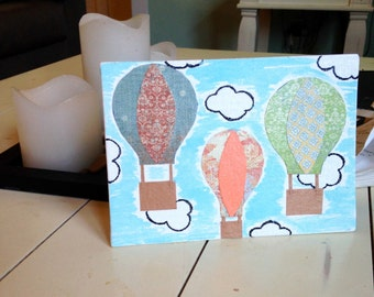 Hot Air Balloons on Canvas