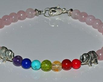 Love Rose Quartz, Lucky Gemstone Anklet,7 Chakra Balance Beaded Anklet,Heart Chakra Healing Anklet,Boho Jewelry,Zen Anklet,Reiki jewelry,