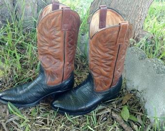 Vintage Men's Palomino Cowboy Boots Size 8
