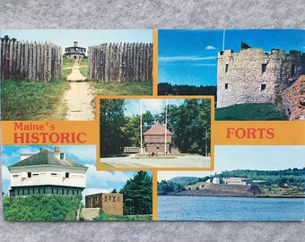 Historic Maine Forts Postcard