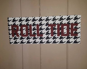 University of Alabama Roll Tide Hand Painted Sign
