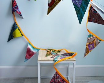 African fabric flags   Batik Bunting