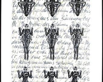 Insektenmythos (Metamorphose), 1985. Serigraph by Margret EICHER & Fritz EICHER
