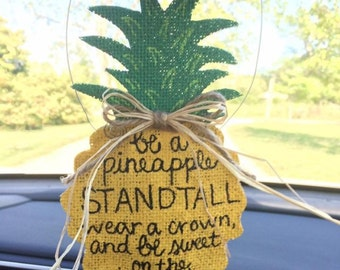 Pineapple Rear View Mirror Hanger