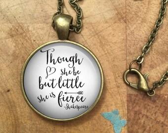 Shakespeare, Shakespeare Quote Necklace, william shakespeare,literary gift, literature, literary quote, shakespeare gift,shakespeare quotes,