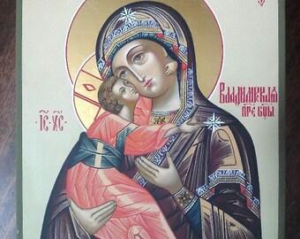 Orthodox icon  Владимирская пресвятая богородица