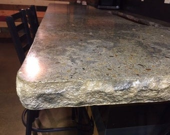 Concrete Island/Bar top, Custom, 45 dollars/per square foot. Industrial. Handcrafted by structural engineer.