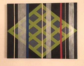 Geometrical Art on 16x20 Canvas