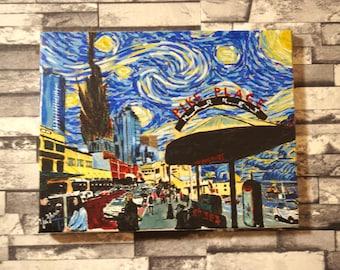 Starry Night Pike Place Market