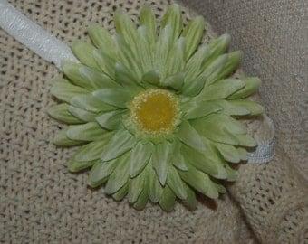 Light Green Flower Headband