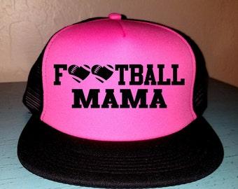 Football Mama Trucker Hat Snapback Hat Custom Trucker Hat Gameday Trucker Hat Sports Mom Football Mom Hat