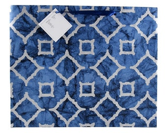 Moroccan Blue - Recycled Cotton Gift Bag