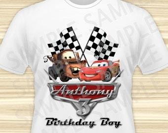 Cars Birthday Boy Iron On Transfer. Cars Iron On Transfer. Diy Cars Birthday Shirt. DIGITAL FILE.