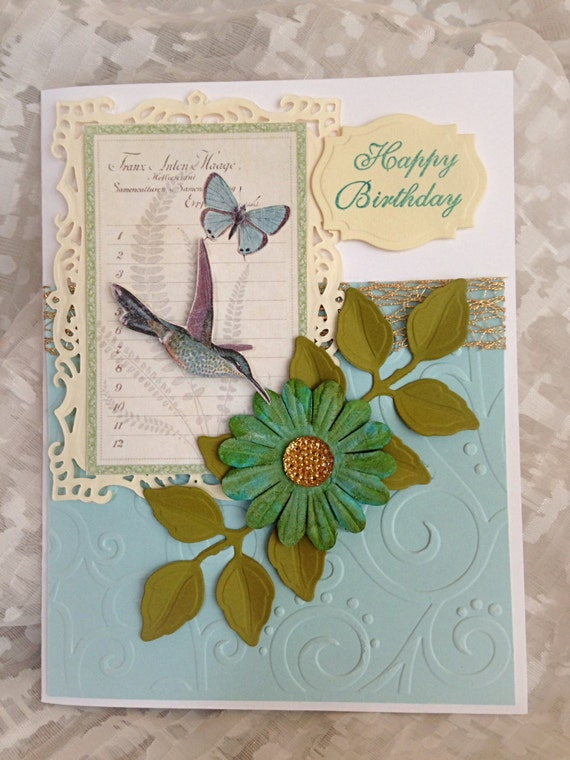 birthday card handmade happy birthday fancy filigree