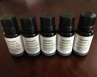 Lavender and Geranium Essential Oil Blend