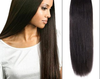 Shade 2 Human hair clip in extensions