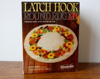 Vintage Latch Hook Rug Kit still in Box