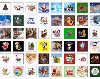 48 one inch square images - Christmas