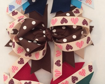 Hair Bows - Country Mix Hair Bows Set of 3 - Boutique Hair Bows
