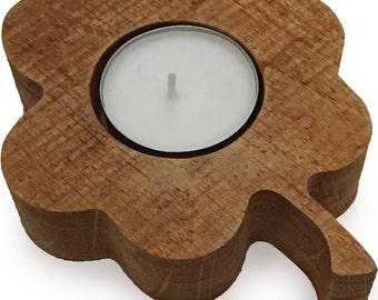 Tealight holder oak clover