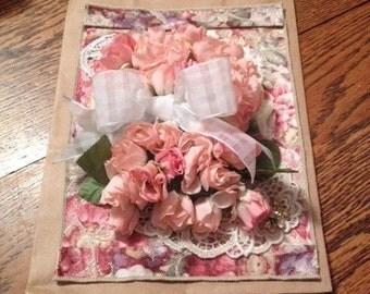 Antique rose gift bag