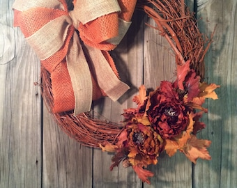 Fall wreath, autumn wreath