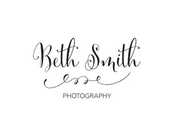 Premade Logo Design | Calligraphy Logo | Small Business Logo | Logo and Watermark Design | Photography Logo