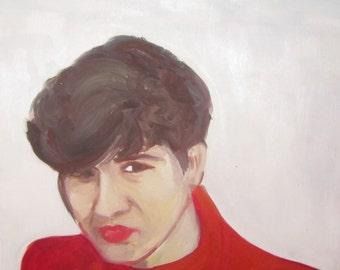 oil painting Womans portrait 40x40 ,2014