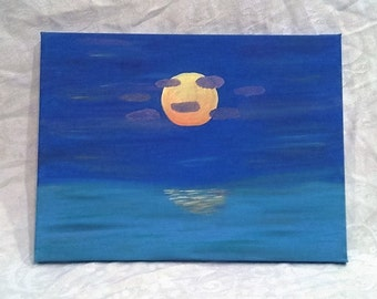 Sun in Paradise Acrylic Painting 12 in x 16 in