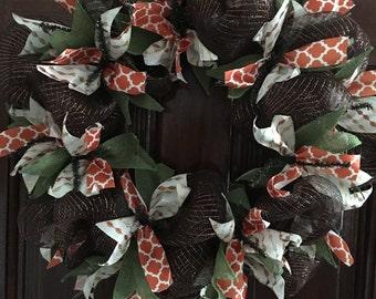 Brown Fall Wreath