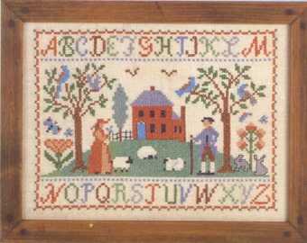 Hill House Alphabet Stamped Sampler Kit by Country Stitches