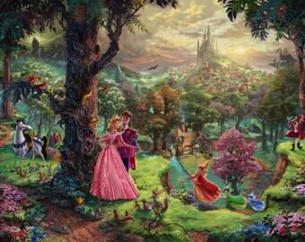 Disney's Sleeping Beauty - Kinkade - HD A4 Glossy Poster Print